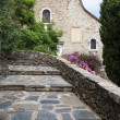 Church and stairs at Bormes les Mimosas — Stock Photo