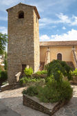 Belfry and church side at Bormes les mimosa — Stock Photo