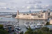 Le Pharo and Fort Saint Jean at Marseille — Stock Photo
