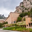 Main street entrance to Montserrat Monastery — Stock Photo
