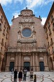 Montserrat basilica Fachade — Stock Photo