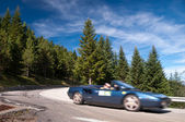 Italian roadstar on road N-260 on spanish pirineos — Stock Photo