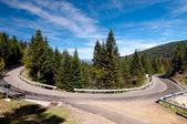Kurve auf der straße n-260 auf spanisch pirineos — Photo