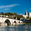 Pont du Avignon over Rhone river and old city — Stock Photo