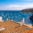 Rooftops and bay at Cadaques — Stock Photo