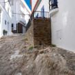 Stone street and houses in Cadaques town — Stock Photo