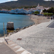 Street on seaside in Cadaques — Stock Photo