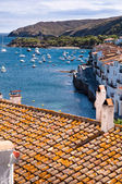 Rooftops and bay at Cadaques — Foto Stock