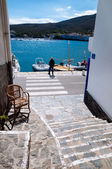 Walking path and sea in Cadaques — Stock Photo