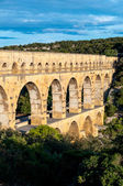 Pont du Gard side top view — Foto de Stock