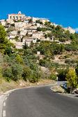 通往法国的戈尔德村庄的街道 — 图库照片