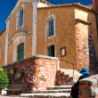 Fachade of Eglise Saint Michel at Roussillon in France — Stock Photo