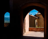 Passages arcs and windows in Roussillon in France — Stock Photo