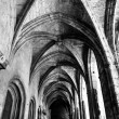 Stock Photo: Cloister corridor and arcs at Saint Just Cathedral at Narbonne i