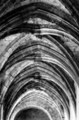 Cloister ceiling arcs at Saint Just Cathedral at Narbonne in Fra — Stock Photo