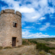 Tower on fields near Rennes le chateau horizontal — Stock Photo
