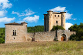 Chateau de Arques tower and walls — Stock Photo