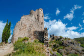 Quertinheux tower and walls at Lastours — Foto Stock