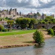 Stock Photo: Carcassonne lcite medievale and pont vieux panoramic view