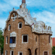 Stock Photo: Big ginger house in Park Guell side view at Barcelona