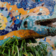 Colorful ceramic Gecko in Park Guell at Barcelona — Stock Photo