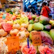 Stock Photo: Fruit shop at LBoquerimarket at Barcelona