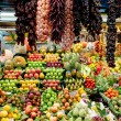 Stock Photo: Fruit and spices shop in LBoqueriMarket at Barcelona