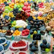 Stock Photo: Fruits in shop in LBoqueriMarket at Barcelona