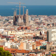 Stock Photo: LSagradFamiliand Barcelonfrom panoramic viewpoint
