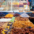 Stock Photo: Nuts shop in LBoqueriMarket at Barcelona