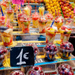 Stock Photo: Salad fruits in LBoquerimarket at Barcelona