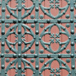 Stock Photo: SantMaridel Mar Cathedral main door detail at Barcelona