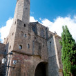 Stock Photo: Tower of Museo de historide Barcelonat Barcelona