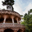 Stock Photo: Viaducto and tree in Park Guell at Barcelona