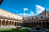 Courtyard of St Hilaire abbey at Aude — Stock Photo