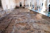 Ancient mosaics inside Basilica di Aquileia — Photo