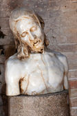 Jesus statue inside Basilica di Aquileia — Stock Photo