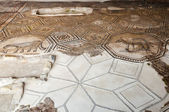 Restored mosaics floor at Aquileia Basilica — Stock Photo