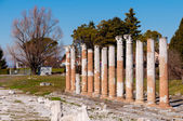 Roman columns on Aquileia archeological area — Stock Photo
