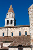 Tower and rooftops of Aquileia Basilica — Stock Photo