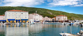 Panoramic view of Cres Town and port — Stock Photo