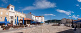 Panoramic view of Frane Petrica square in Cres — Stock Photo