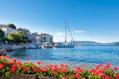 Valun port town and coast in Croatia — Stock Photo