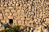 Ancient stone wall ruins at Lubenice in Cres — Stock Photo
