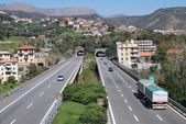 View and harbor of Varazze, Liguria, Italy — Stock Photo