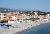 The sea of Liguria, Italy celle ligure — Stock Photo