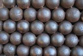 Background of cannon balls — Stock Photo