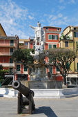 Sur le chemin à portofino, Ligurie, Italie — Photo