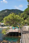 Auf dem weg nach portofino, ligurien, italien — Stockfoto