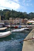 On the way to Portofino, Liguria, Italy — Stock Photo